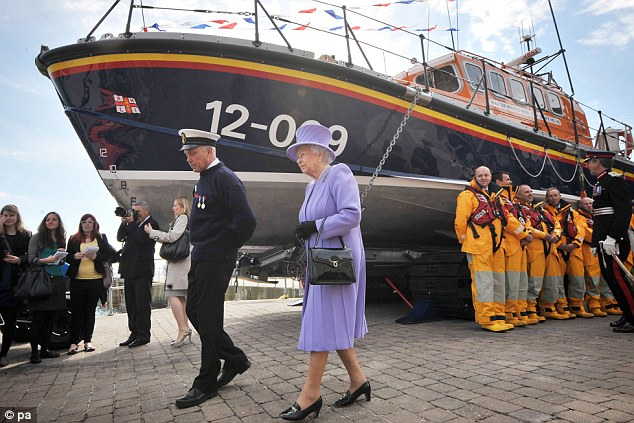 Fair weather: The Queen was blessed with sunshine and blue skies on her visit to the coast