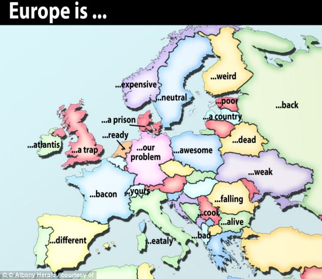 Europe according to Google's auto-complete feature