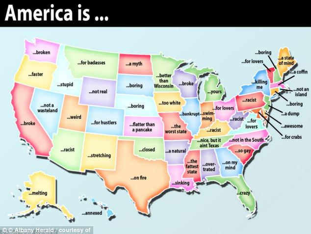 The US according to Google's auto-complete function