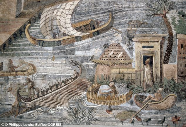 A Roman mosaic depicting the flooding of the Nile from the 1st century BC