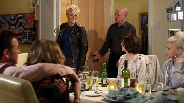 Shirley turns up at Sharon's dinner thinking it was 'bring a bottle' only to realise to her horror that it's fish