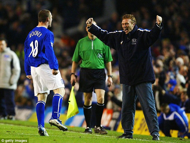 Familiar face: Rooney and David Moyes are set for talks at Old Trafford
