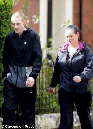 Evil: Matthew Atherton, 23, and Anne Turnbull, 30, leave Preston Crown Court after being charged with neglect. Their three-month-old son, Liam, died from pneumonia after they held a drunken all-night party