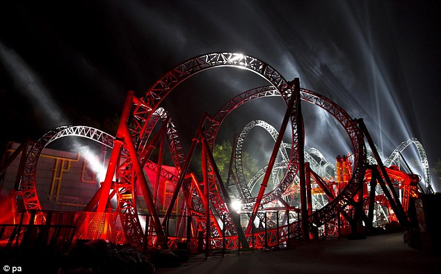 Loop the loop: The roller coaster may look spectacular, but if its first run is anything to go by, there is still work to do