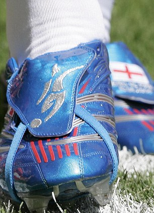 Boot room: Beckham has worn addias since 1996 - these were the boots he wore at the 2006 World Cup