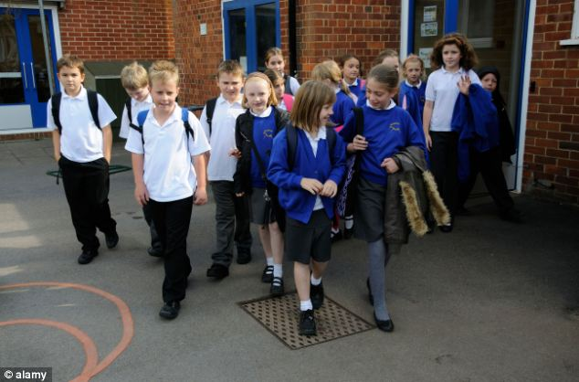 Loss of space: Some headteachers have been forced to open extra classrooms in playgrounds and on playing fields
