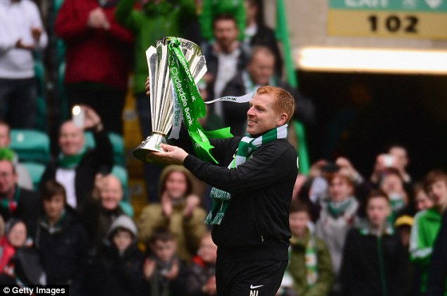 Champions: Lennon will be hoping to add the Scottish Cup to the Premier League title Celtic won this season