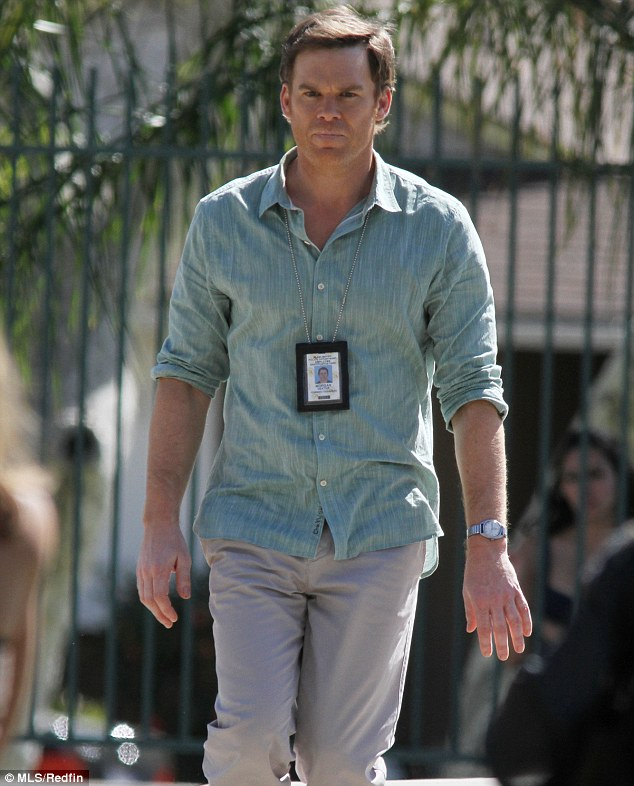 TV star: Hall is known for his role as serial killer Dexter Morgan on Showtime's hit series Dexter
