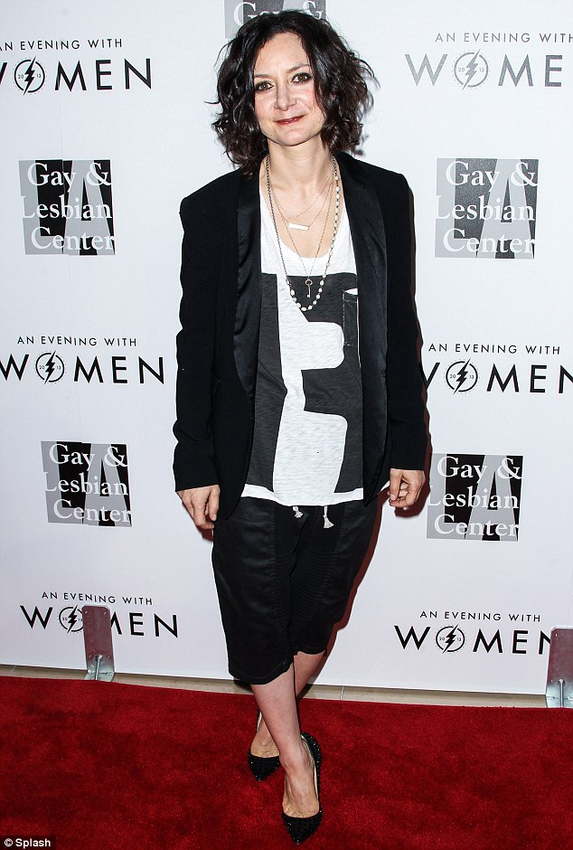 Much to talk about: Sharon Osbourne's The Talk co-host Sara Gilbert was also at the event