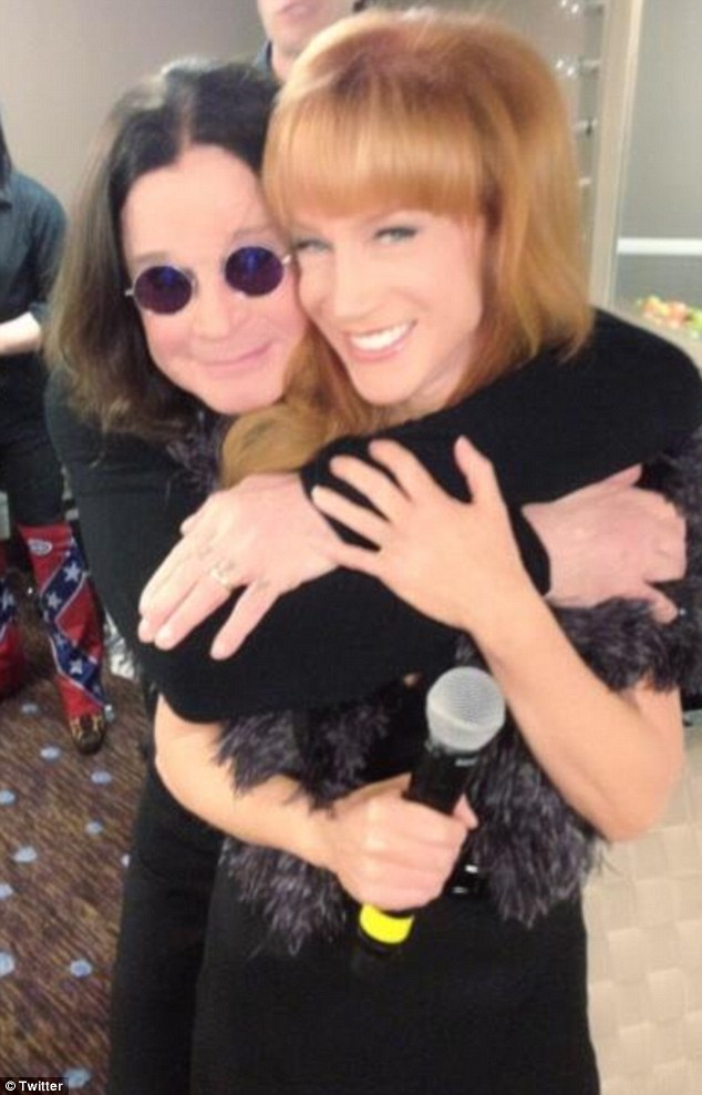 Backstage banter: The comedianne shared a snap of a tender embrace with Ozzy