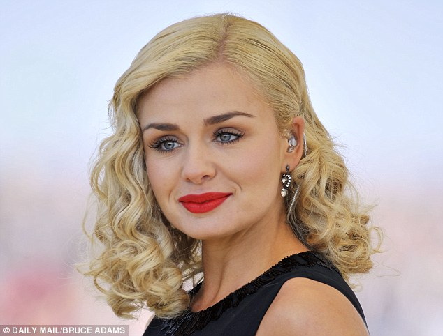 Blonde beauty: The wavy hair of singer Katherine Jenkins was admired by the majority of 2,000 women answering the poll