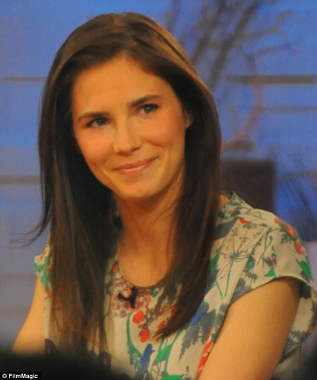 Publicity drive: Amanda Knox appears on GMA earlier this month to promote her memoir