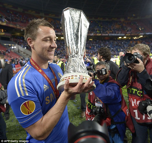 We've seen it before: Terry lifting the Europa League trophy and the Champions League last year (before)