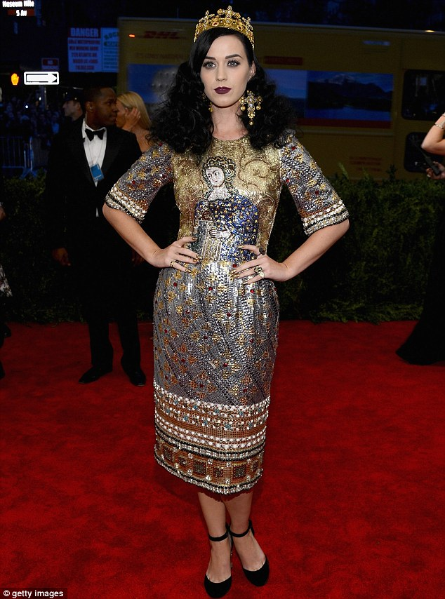 Pop royalty: Katy Perry attended the Met Costume Institute Gala earlier this month
