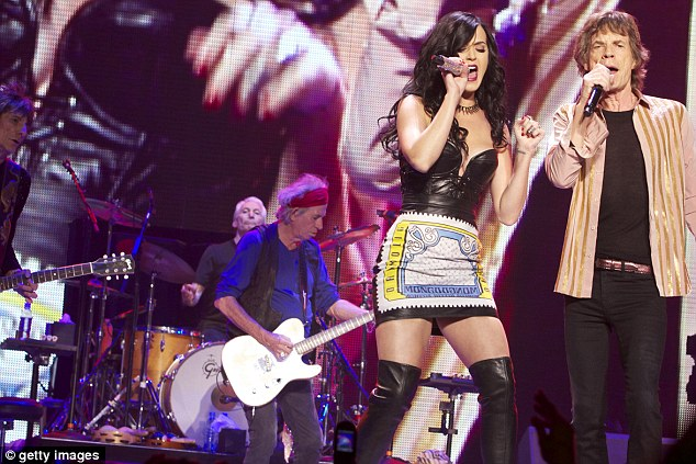 Cool collaboration: She also performed on stage with The Rolling Stones in May