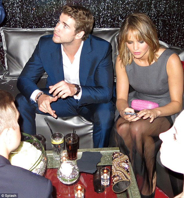 Jet-setter: Jennifer joined Liam Hemsworth at a Hunger Games party in Cannes, France at the weekend