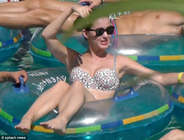 Mother mode: The 28-year-old revealed that she wasn't having a wild time via her Twitter page