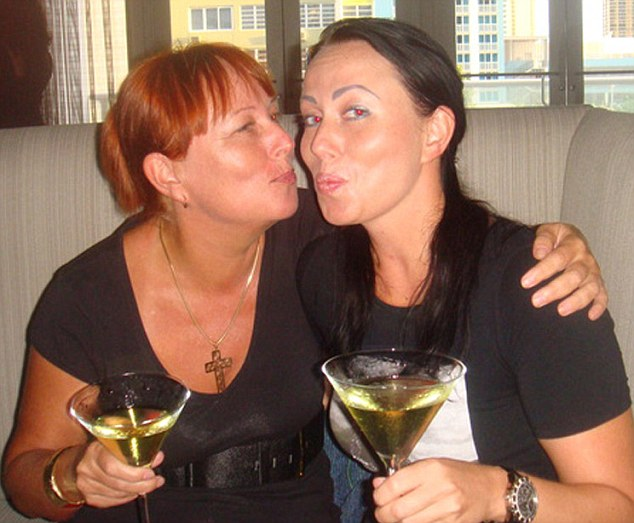 Dispute: Former lapdancer Anna Zizuzina, pictured with her mother Olga, is involved in a legal fight with her late husband's family over his £1.5million estate