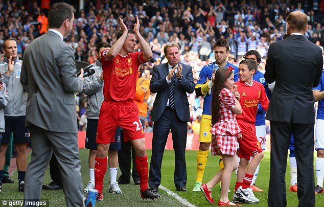 Last outing: Carragher was given a guard of honour at Anfield