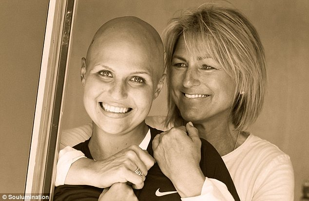 Brave face: Austen, pictured with her mother June, battled Non-Hodgkin's Lymphoma is pictured with her mother June before her death on August 14, 2012