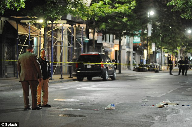 Point-blank: Police said Morales used a silver Taurus .38-caliber revolver to shoot Carson at point-blank range as he walked with his 33-year-old companion on Sixth Avenue near West Eighth Street