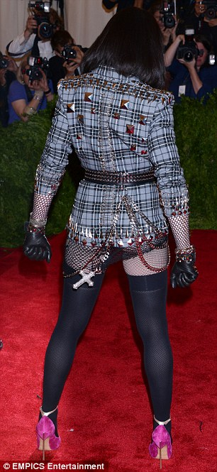 Look familiar? Madonna also wore no trousers at the 2013 Met Ball earlier this month