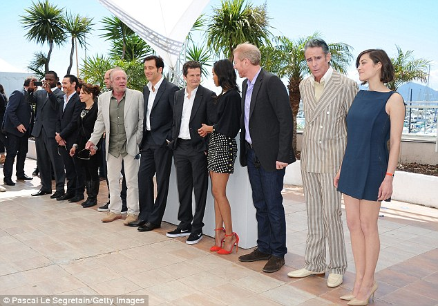 The whole ensemble: (L-R) Actor Billy Crudup, actress Lili Taylor, actor Domenick Lombardozzi, actor James Caan, actor Clive Owen, director Guillaume Canet, actress Zoe Saldana, actor Noah Emmerich, actor Mark Mahoney and actress Marion Cotillard