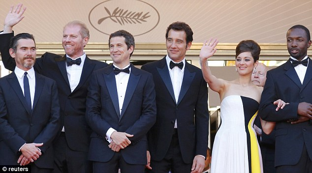 Blood Ties: The stars posed up before the screening of Guillaume Canet's film