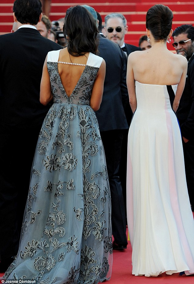 Backless and beautiful: Marion and Zoe both opted for flowing dresses - Marion's was more successful