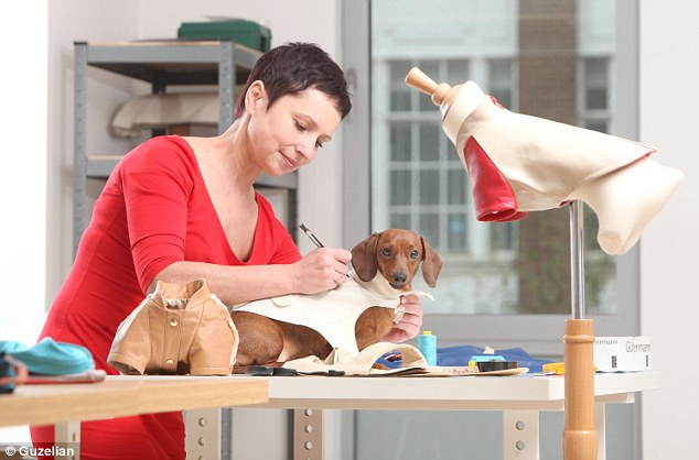 Styling: Pattern Maker Irena Stankevica tailors a top-end suit to fit Fanta the Dachshund