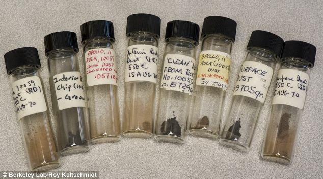 A total of 20 vials containing moon dust and rocks collected during the Apollo 11 mission have been found abandoned in a warehouse in California.