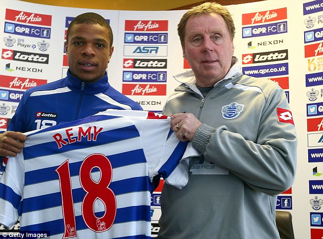 On his way? Loic Remy, who was arrested last week on suspicion of rape, is set to lead the QPR exodus this summer