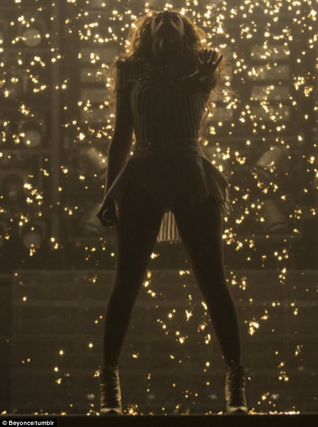 Glittering: Beyonce has made sure she puts on a very impressive performance at every concert