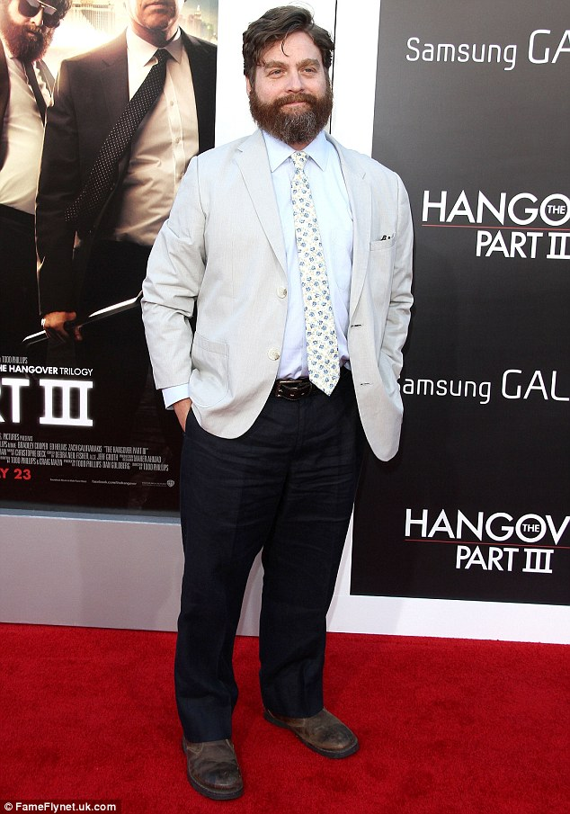 Heart of gold: Zach, pictured at The Hangover 3 Premiere on Monday night, has known Mimi for over 18 years