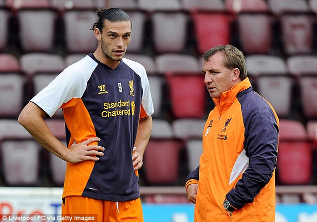 In the cold: Liverpool manager Brendan Rodgers doesn't believe Carroll has a future at Anfield