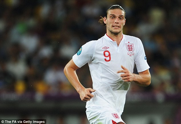 Back in the frame: Carroll had been recalled by Roy Hodgson for the England friendlies