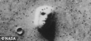 Face on Mars found in the Cudonia region of the Red planet by the Viking Orbiter
