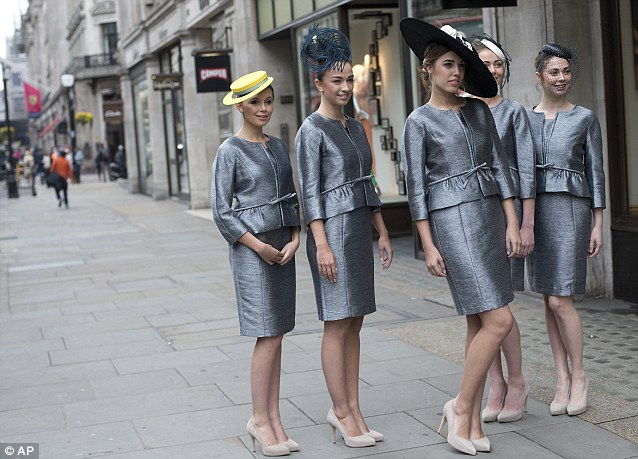 The assistants will be wearing the grey outfits, designed by Hobbs, and be outside Ascot to offer advice and provide minor corrections if necessary as they did last year