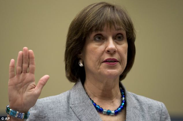 Ousted: Lois Lerner was placed on administrative leave following her testimony about the IRS' involvement in the targeting of conservative groups