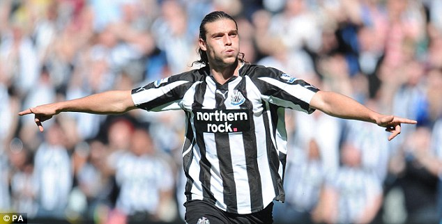 Bursting onto the scene: The England frontman made a big impact at Newcastle before leaving, however
