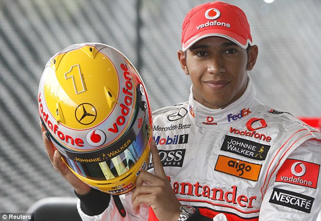 Past favourites: Lewis Hamilton has modified his helmet designs in the past