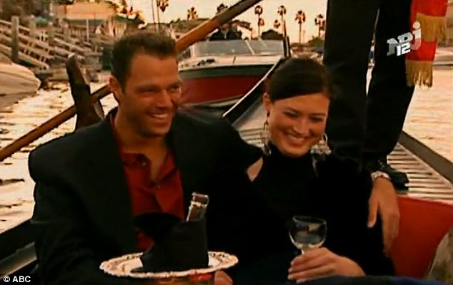 Dream dates: Like many stars of the dating show, Phillips was often filmed with a glass in her hand