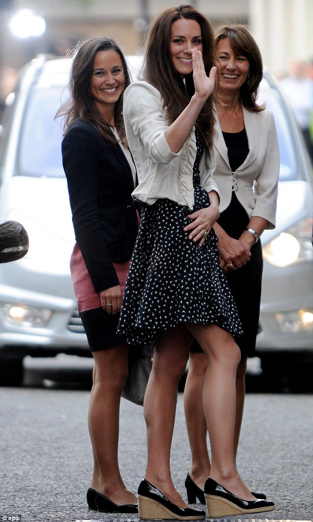 High standards: Carole Middleton got under the skin of another mother when Kate and Pippa were at school because they always seemed so perfect