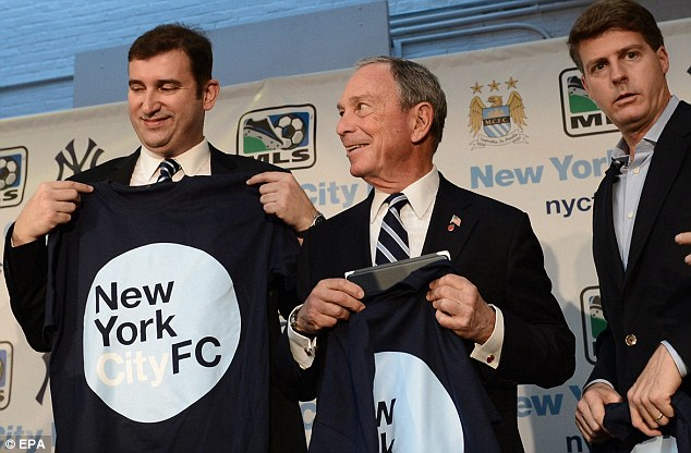 Assuring: Ferran Soriano (left) claims New York City FC will work within the local community