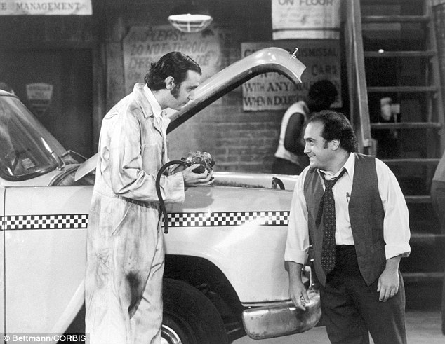 Well known: Kaufman was also famously known from his role in the TV series, Taxi, as Latka Gravis, while seen beside actor Danny DeVito who played Louie DePalma