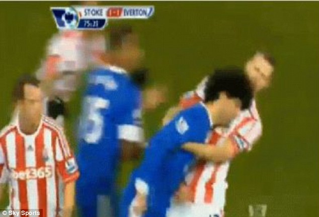 Wrong: Moyes called Fellaini in for a day of training for this headbutt