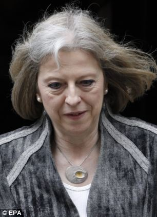 Home Secretary Theresa May attended the Cobra meeting this morning