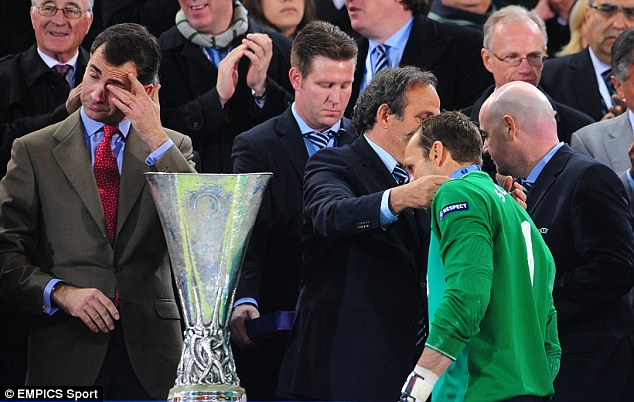 Missing out: Schwarzer has been a losing finalist in the UEFA Cup and then the Europa League