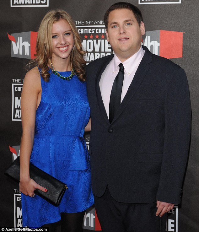 Together again: Jonah Hill and ex-girlfriend Jordan Klein, shown at the Critics' Choice Movie Awards in 2011, were recently spotted sharing a passionate kiss, according to reports