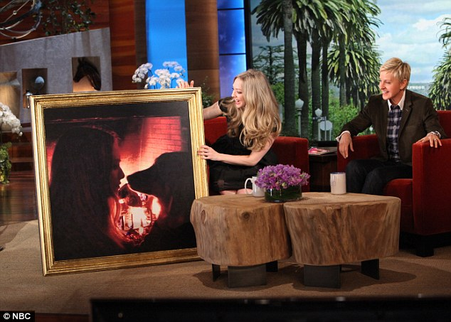 Body-confident: The actress, who was presented with a large picture of herself on the show, admitted that she's learnt to be happy with her figure